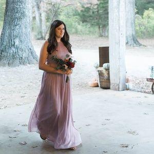 JCrew Bridesmaid Dress - Long Chiffon - Size 12